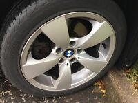 Only today £100 Alloy Wheels BMW 17 with Pirelli P6000 225/45