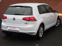 Volkswagen Golf SE TDI BLUEMOTION TECHNOLOGY (white) 2014-03-01