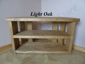 MADE TO ORDER Handmade Rustic Wooden TV Stand - Many Colours and Sizes