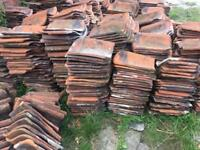 Clay pan roof tiles 8000+ for sale £1 each can deliver