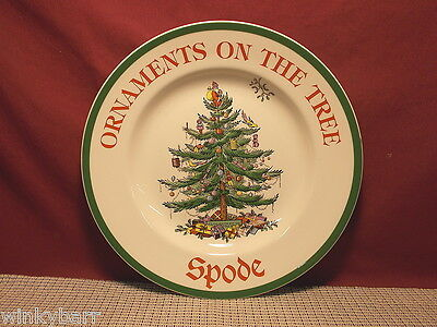 Spode China Christmas Tree S3324 Advertising Plate Ornaments On The Tree New Spode China Christmas Tree Ornaments