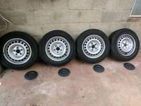 "VW T5 16"" steel wheels + good tyres"