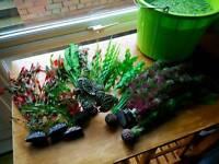 Plastic aquarium plants