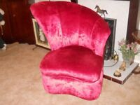 rose velvet statement chair