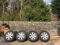 """VW 16"""" ALLOYS WITH TYRES GREAT CONDITION"""