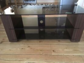 Glass And Wood TV Unit