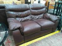 Brown leather 2pc suite