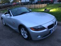 BMW Z4 2.5 SE AUTOMATIC 2004 CONVERTIBLE LOW MILEAGE FULL HISTORY NEW MOT MIN...