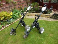 2 Mocad Electric golf trolleys