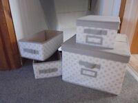 FOUR STORAGE BOXES