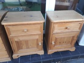 Solid pine bedsides cabinets Antiques 17 beverley road