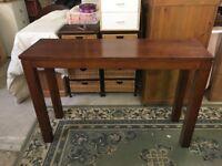 mahogany effect hall table/telephone table