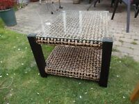 Glass top conservatory or coffee table