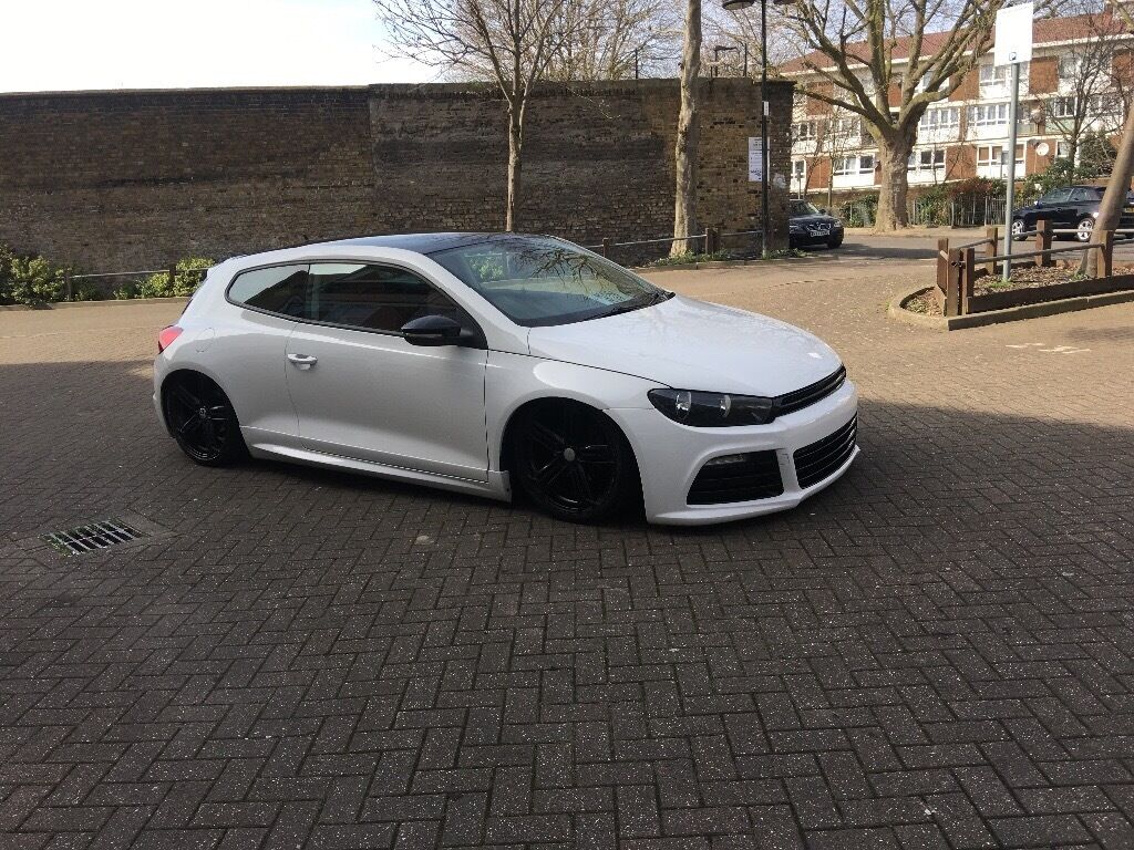 vw scirocco r replica 2011 61 bluemotion diesel white modified air ride 30 road tax in mile. Black Bedroom Furniture Sets. Home Design Ideas