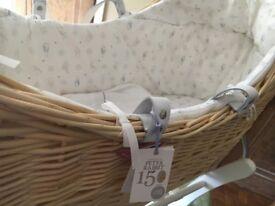 Peter Rabbit limited edition Moses basket and gliding stand.