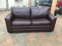 Faux leather bed settee