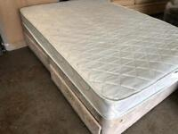 DIVAN BED BASE WITH DRAWERS + MATTRESS