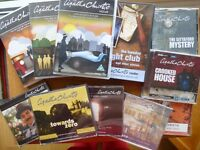 An Agatha Christie Bundle comprising CD box sets and DVDs