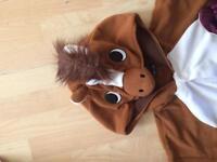Fancy Dress horse onesie Sz l