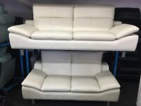 New/Ex Display Prestwood Leather 3 + 2 Seater Sofas