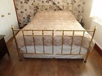 Brass effect bed king size bed frame