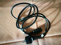 Black power cable for PC with EU contact lightly used excellence condition
