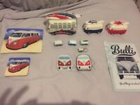 Vw van onarments' money boxes playing cards plate mat & cup all in very good condition