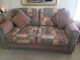 Caravan camper van cushions corner sofa and two seater sofa bed