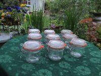 Small Kilner jars weddings parties etc