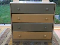 john Lewis pine chest of drawers upcycled using Annie Sloan paint and wax