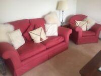 Sofa 3 Seater & Matching Chair, Laura Ashley
