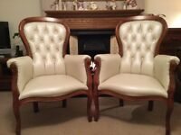 Victorian Style Queen Ann style chairs (pair)
