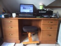 Large solid desk for sale.
