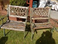 Pair Of Garden Chairs - Restoration Project