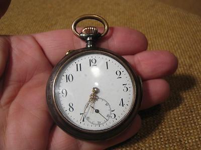 """▀█▀ ██ █▄ █▄ sehr alte Taschenuhr mit Viertelrepetition """"Schweiz """""""