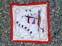 Classic Sailboat Red & White Vintage Scarf