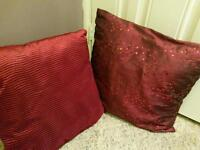 Cushions two red