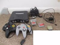 Nintendo n64 Console with 2 controllers, memory card and rumble