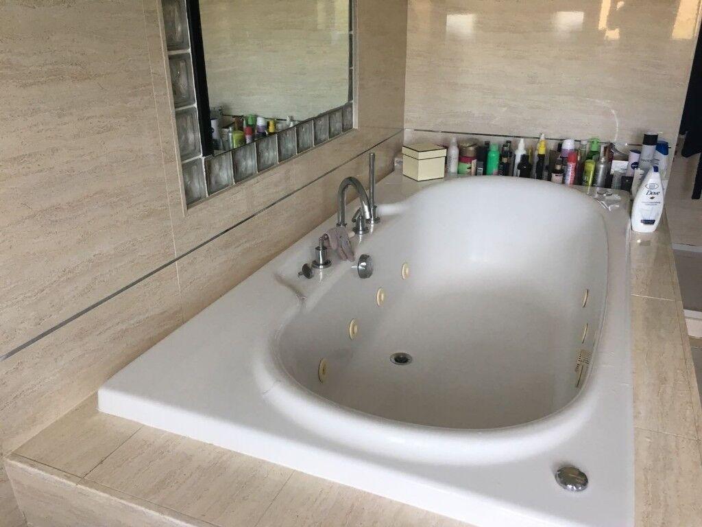 Bathroom Suite - inc complete shower,hydraspa whirlpool bath,sink ...