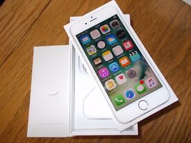 Apple iphone 6 64gb unlocked to all networks. (Silver)