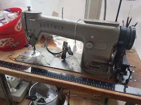 Brother commercial sewing machine with table