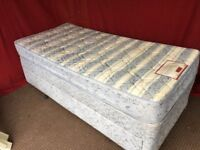SINGLE DIVAN BED WITH 2 DRAWS AND MATTRESS,CAN DELIVER