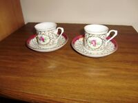 Coffee cup and saucer x 2, NEW