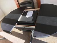 IKEA black dining table 4-6 seats