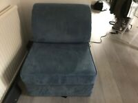 Lovely coloured Blue single seat / bed