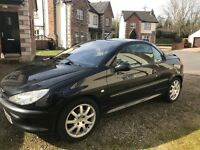 Peugeot 206 cc 2.0 Convertible. 75,000 miles, MOT March 2018