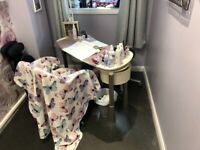 Nail desk with fan & lamp, used for sale  Hull, East Yorkshire