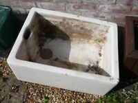 2 old china BUTLER SINKS suitable for garden use pond frogs feature etc,.