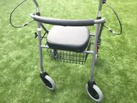 Rollater with seat