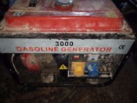 NON WORKING FAULTY PETROL GENERATORS PETROL PRESSURE WASHERS AND COMPRESSORS BOUGHT FOR CASH